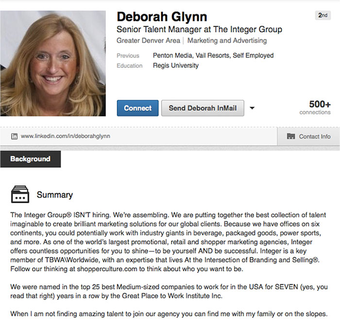 how to write a great work experience section in linkedin