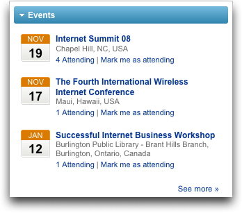 LinkedIn Events - Homepage
