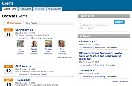 LinkedIn Events Hub