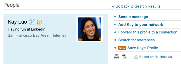Saving LinkedIn Profile from Profile homepage