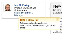 LinkedIn Follow across shared groups
