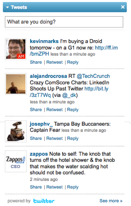 LinkedIn Tweets from LinkedIn Profile (LinkedIn Tweets App)