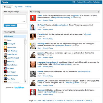 LinkedIn Tweets Homepage