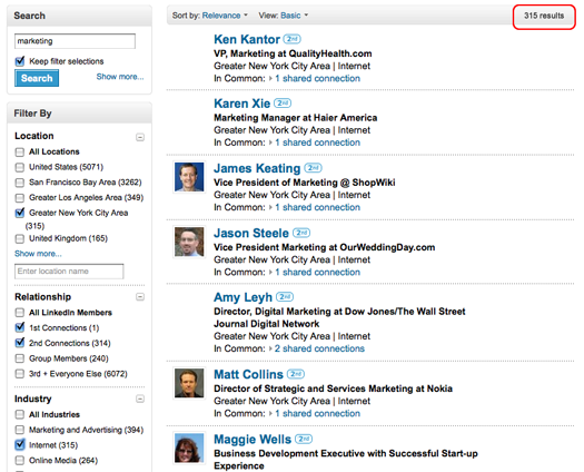 LinkedIn People Search after Faceted Search