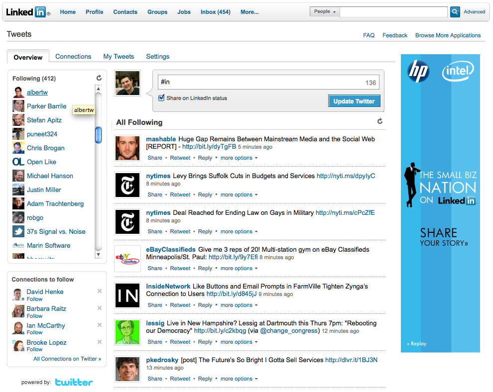 Find and Follow Your LinkedIn Connections on Twitter   Official ...
