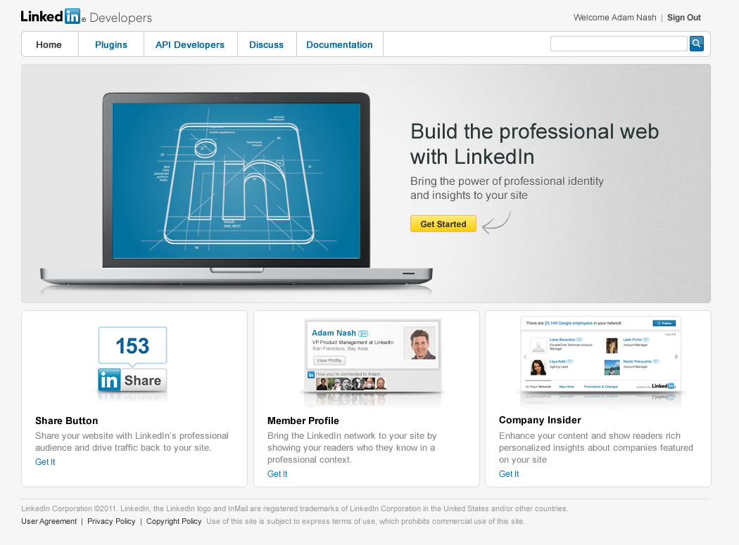 The New LinkedIn Platform: Help Build the Professional Web ...