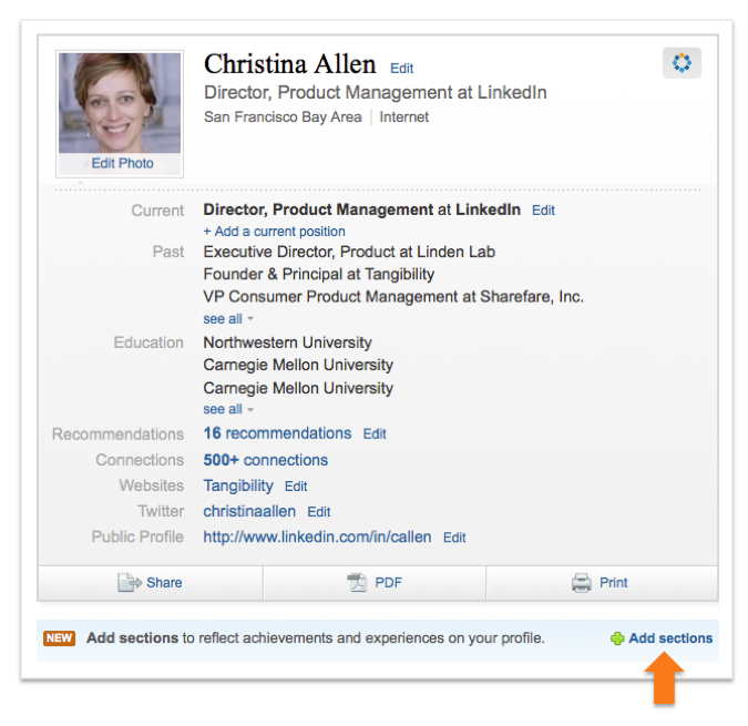 what to put on linkedin as a master student