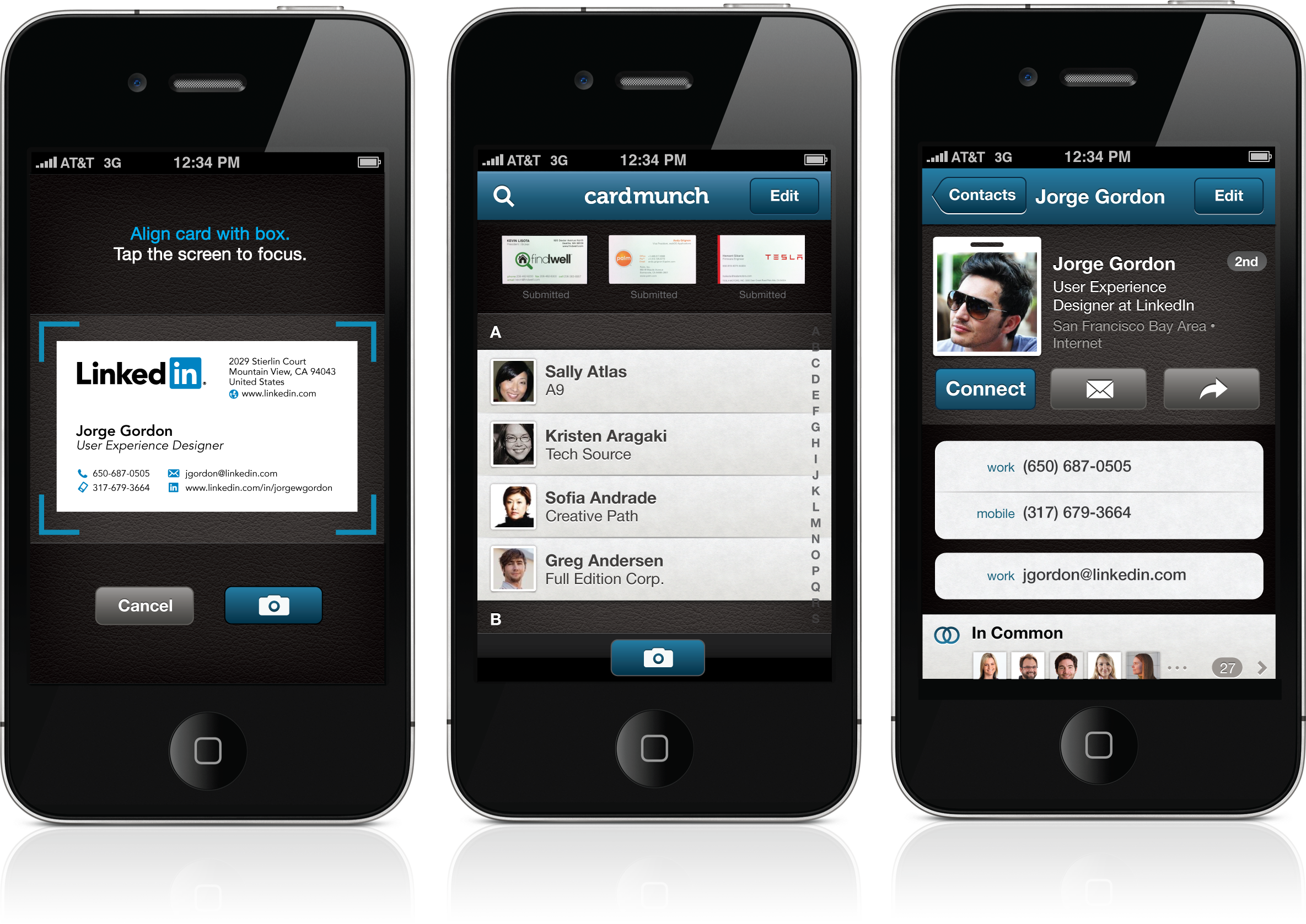 LinkedIn\'s New CardMunch iPhone App: Reinventing Business Cards ...