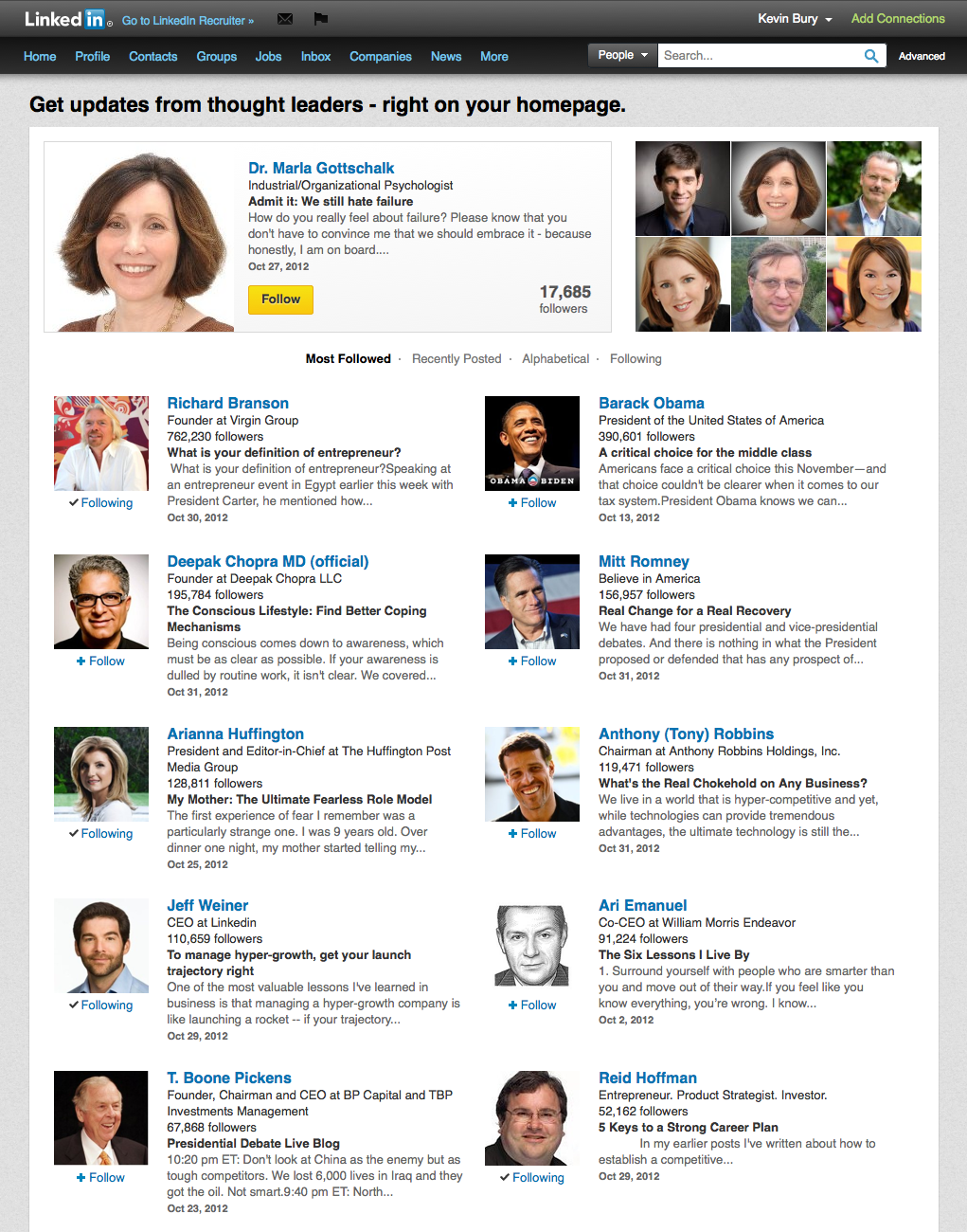 Publishing content on Linkedin will show you as a thought leader.