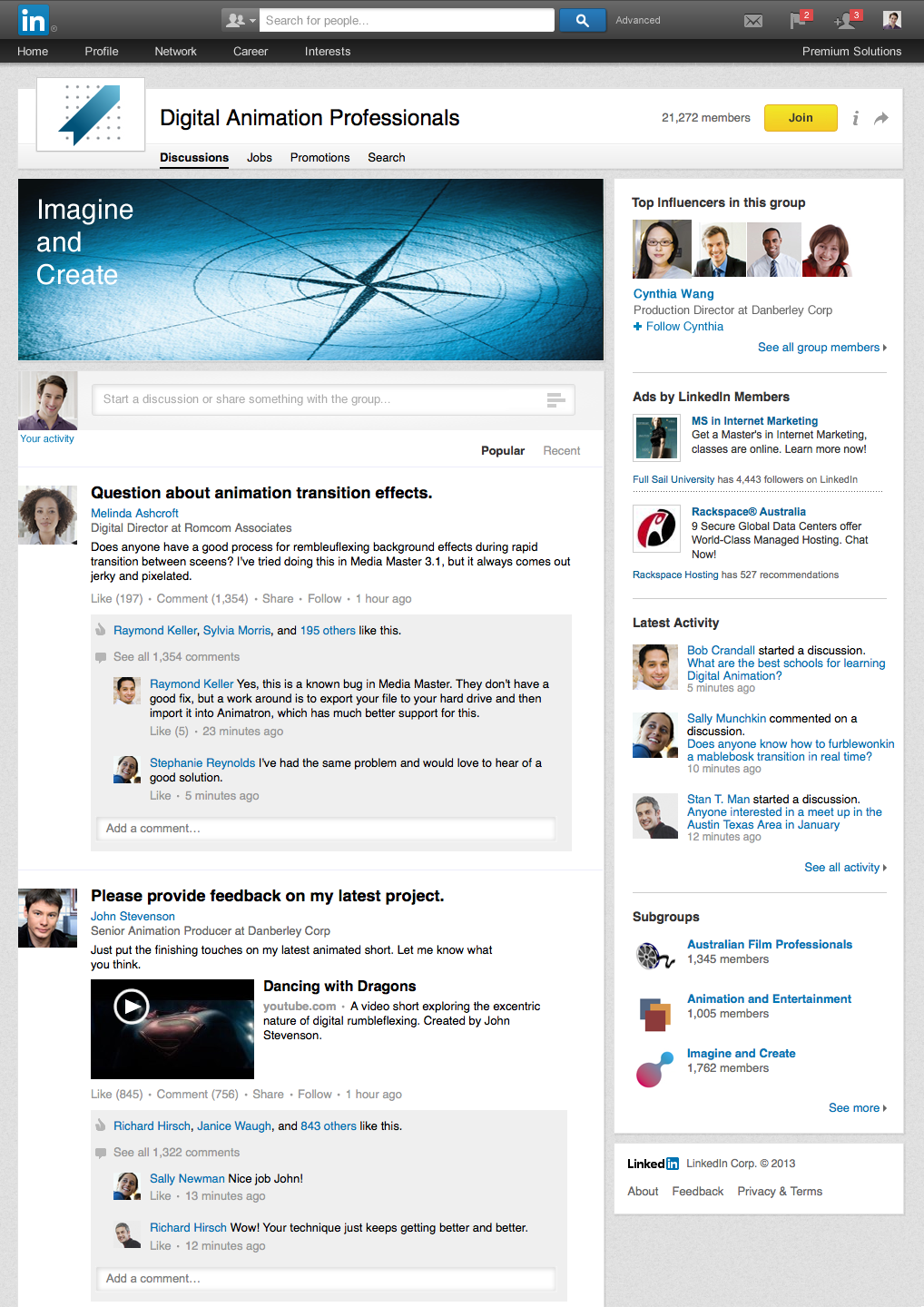 linkedin groups redesign 2013