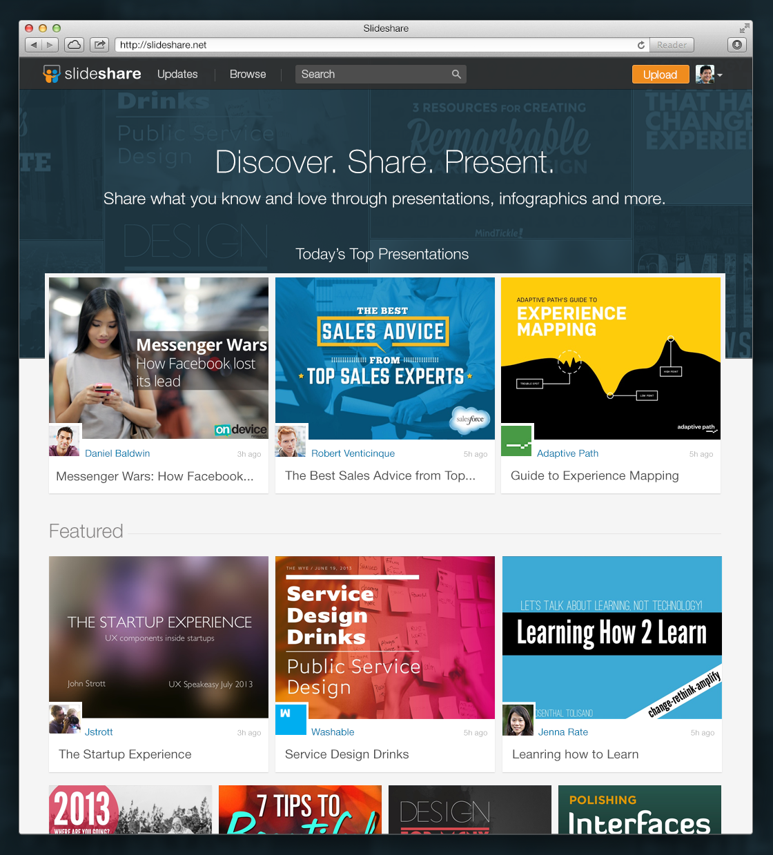 introducing your new slideshare homepage official linkedin blog