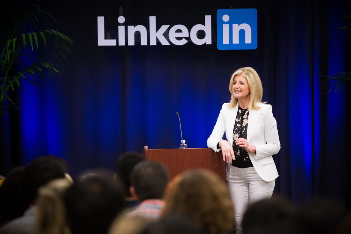 Arianna Huffington at LinkedIn Speaker Series