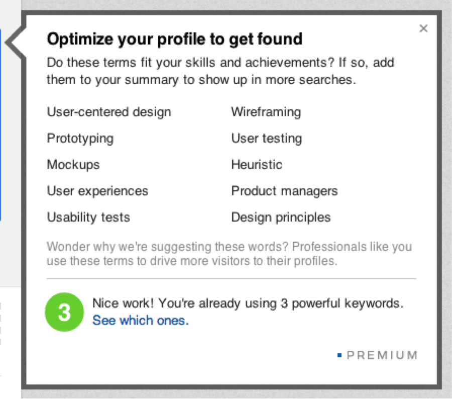 optimize your profile