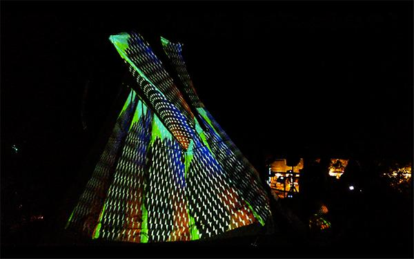 teepee projection mapping