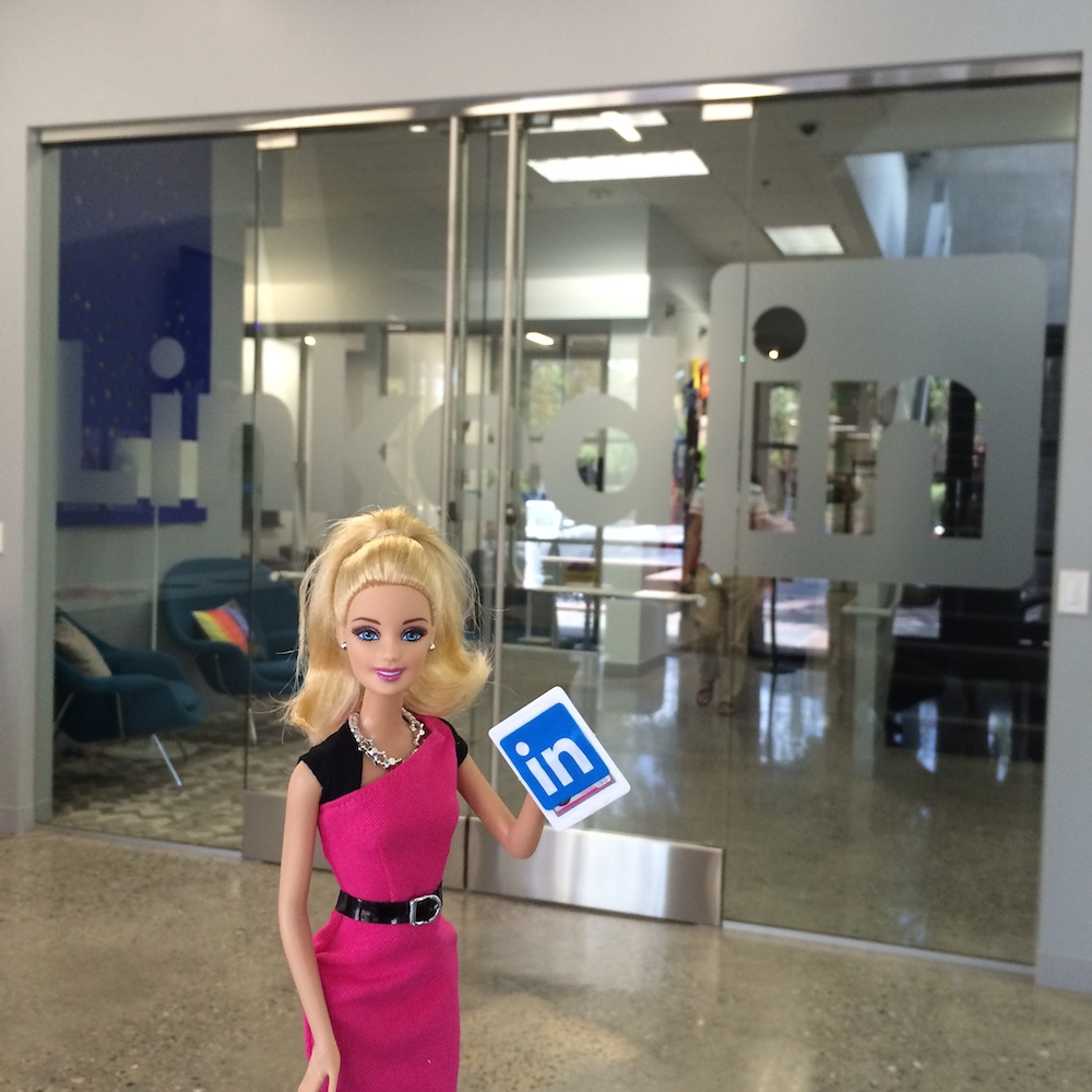 Entrepreneur Barbie at LinkedIn