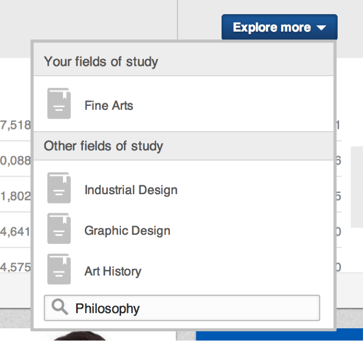fields of study explorer