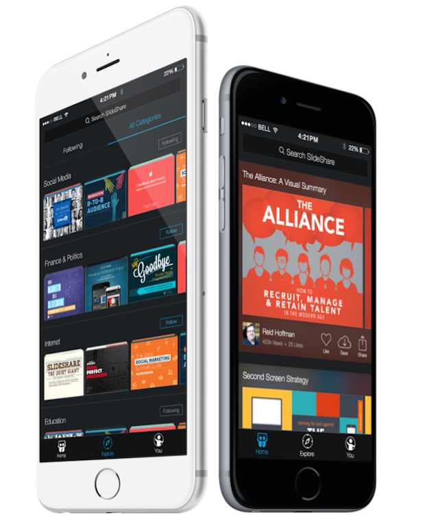 SlideShare Gets Bold and Beautiful on the New iOS 8