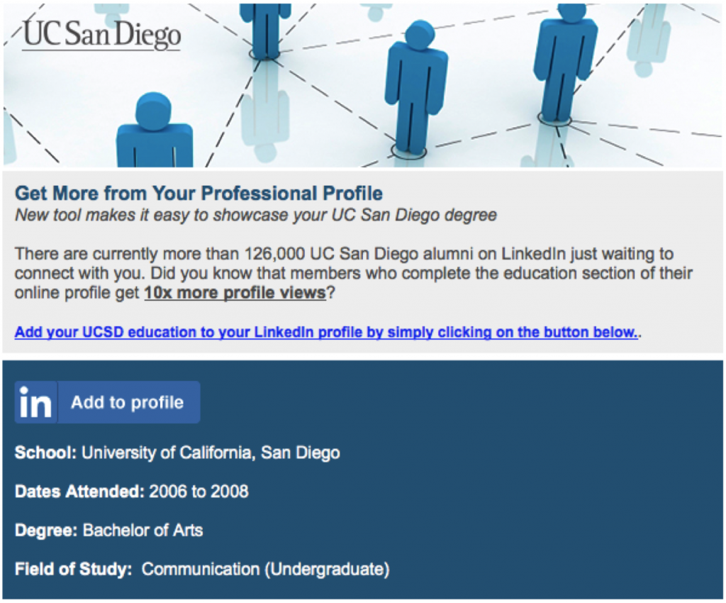 ucsd add to profile