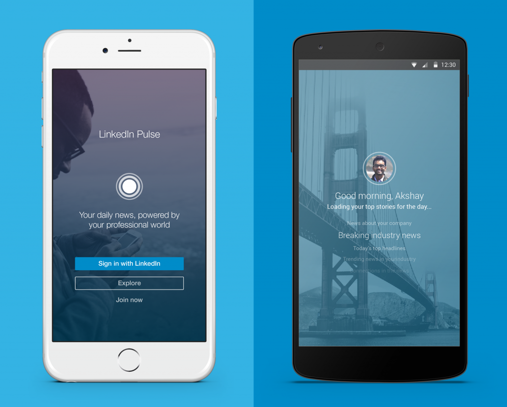 Linkedin Pulse iPhone and Android