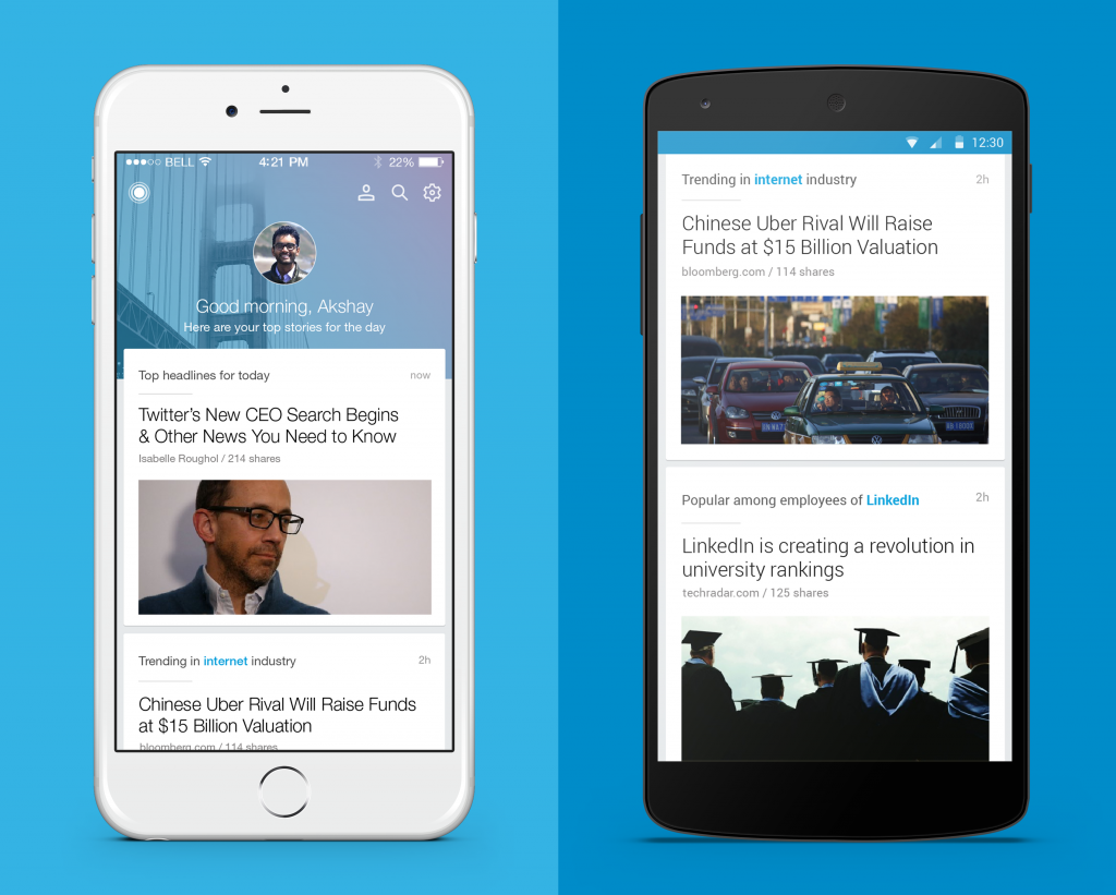 Linkedin Pulse iPhone and Android 2