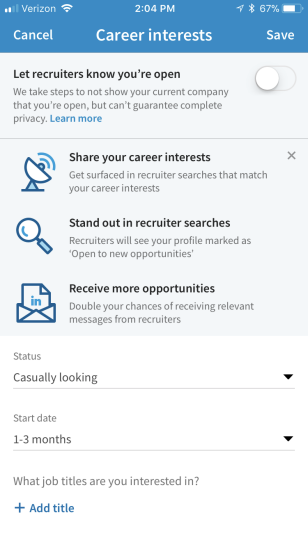 horizon are a bunch of new features to make open candidates a one stop shop for your job search coming soon are personalized suggestions to help you - How Linkedin May Help You Find A Job And Advance Your Career