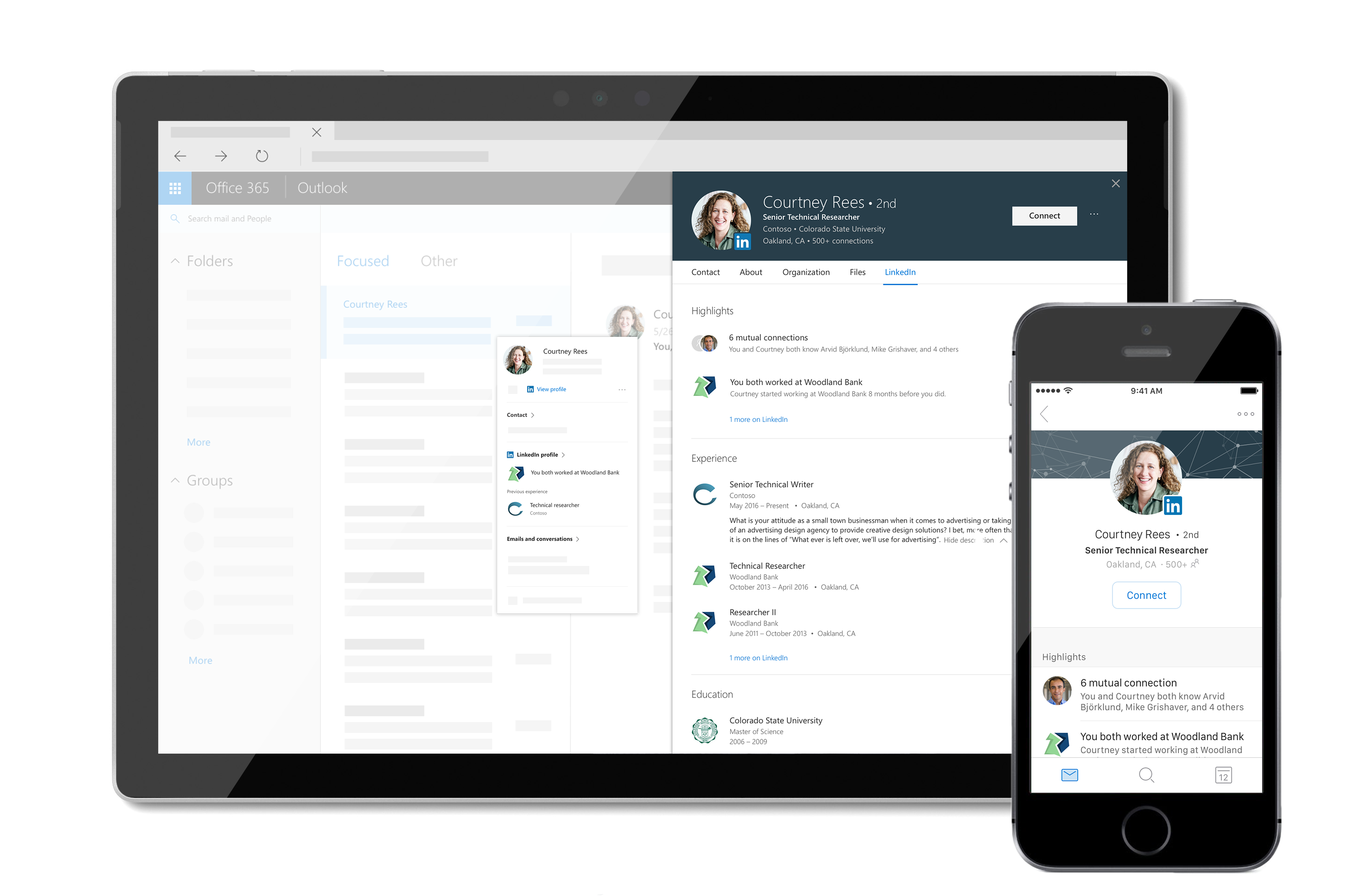 Adding Linkedin\'s Profile Card on Office 365 Offers a Simple Way to ...