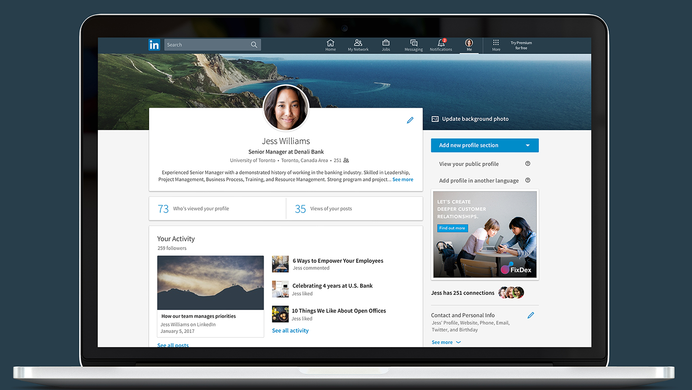 how to close your linkedin profile