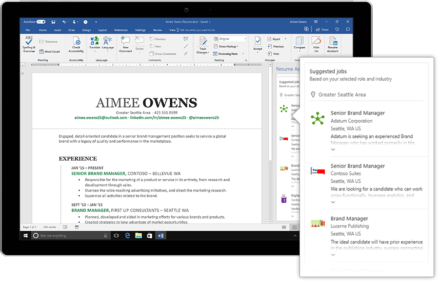 linkedin just made writing your resume in microsoft word a whole