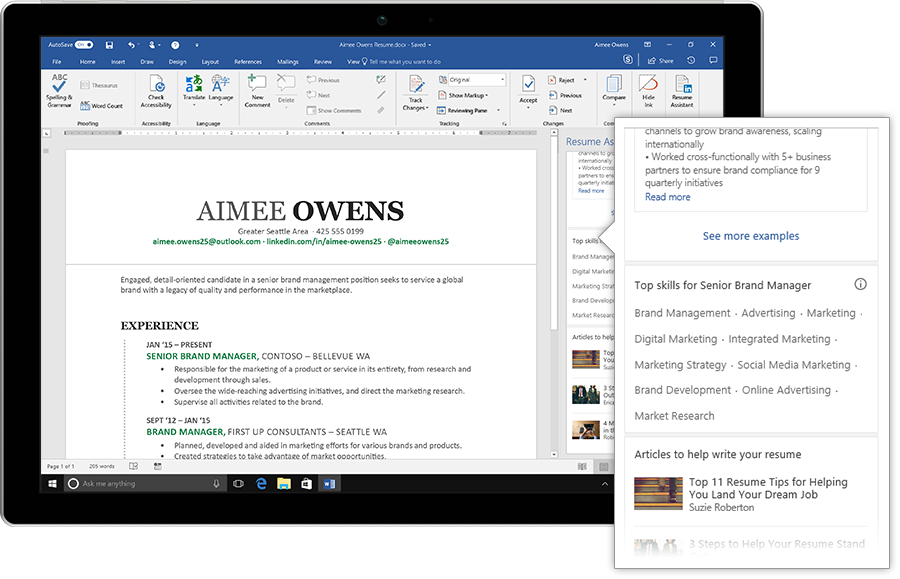 Linkedin Just Made Writing Your Resume In Microsoft Word A Whole Lot