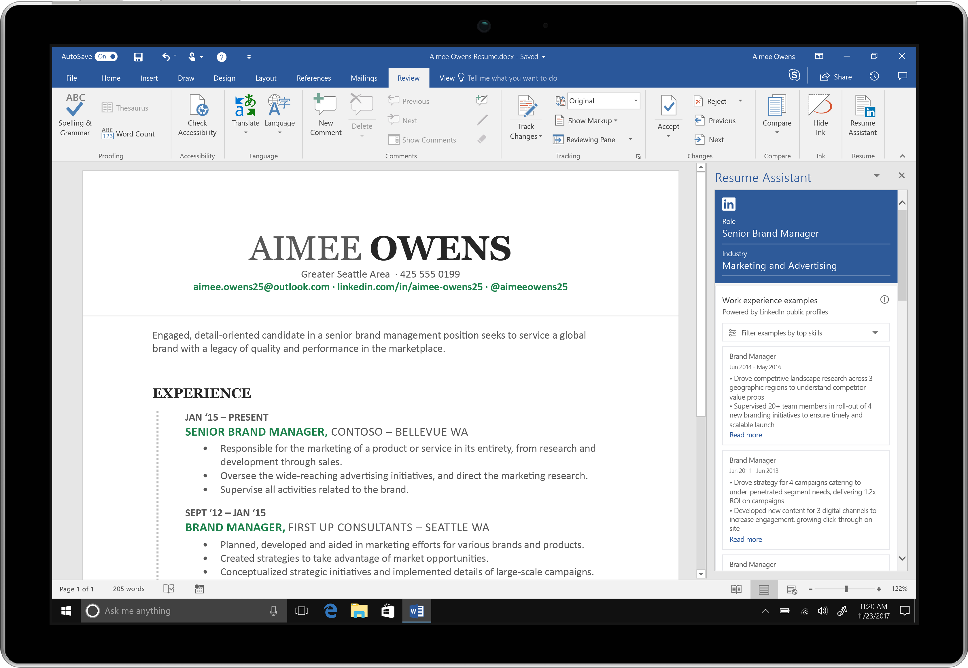 linkedin just made writing your resume in microsoft word a whole lot easier