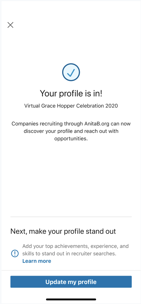 Profile submission for Grace Hopper