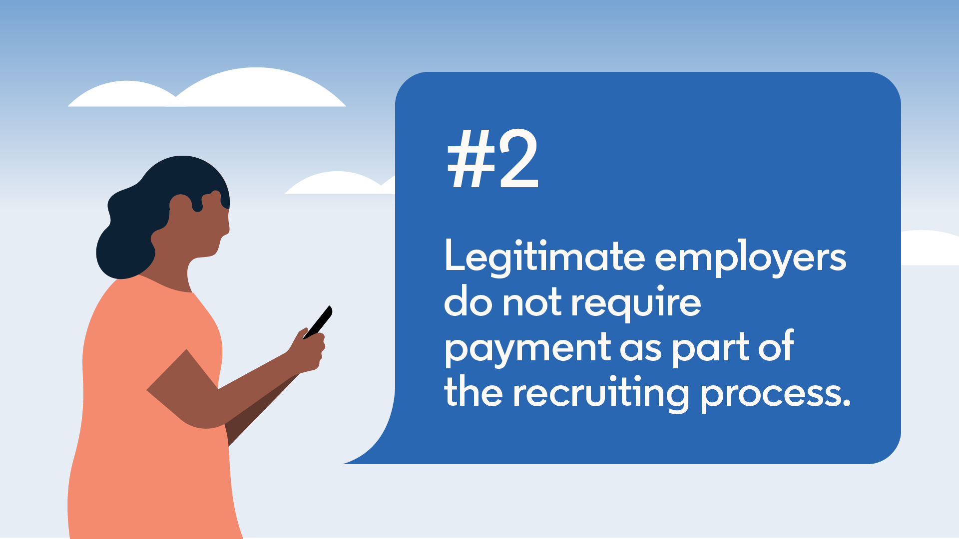 employers don't require payment during recruiting