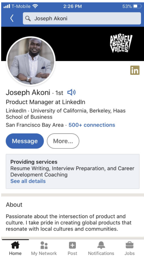 Audio clips on LinkedIn user profiles