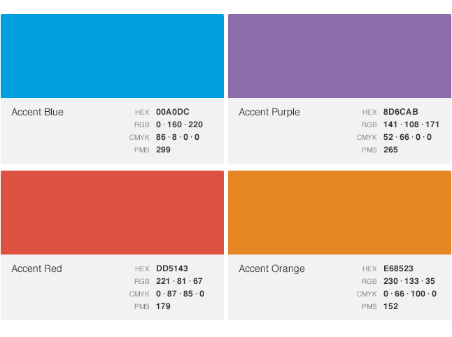 Color palettes Color combinations numbers