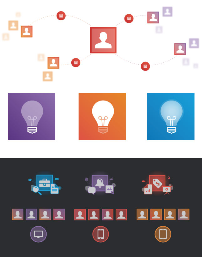 Examples of LinkedIn simple illustrations