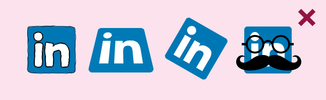 Don't modify the LinkedIn logo