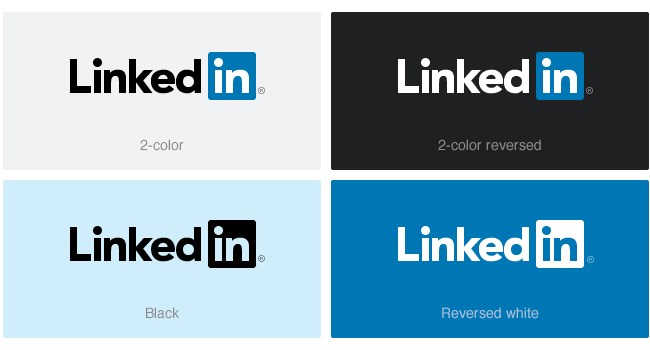 LinkedIn logo options