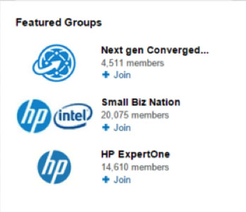 HP Increases LinkedIn Followers on Company Page using Featured Groups