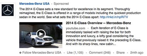 Mercedes-Benz Sponsored Update