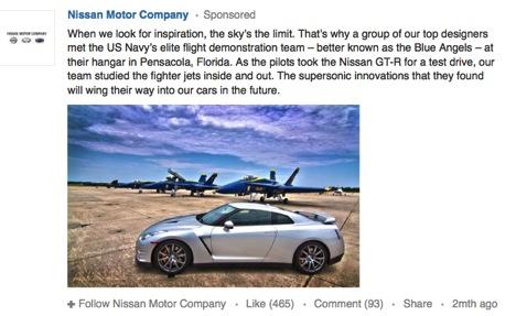 Nissan Sponsored Update