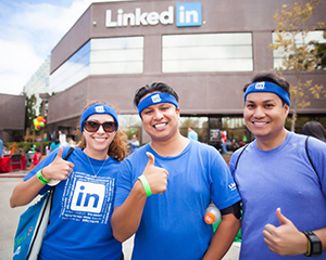 LinkedIn employees rocking the brand at a recent InDay.