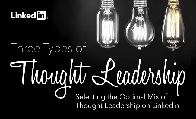 Three Types of Thought Leadership eBook Cover