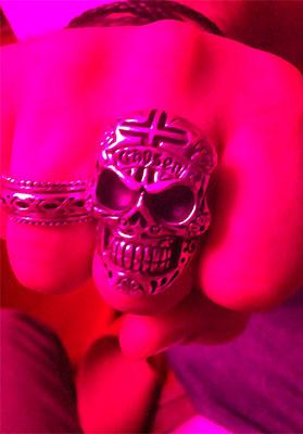skull ring post