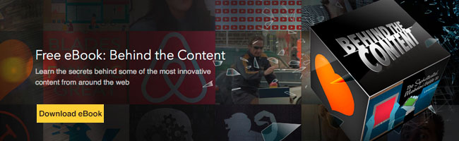 behind the content footer