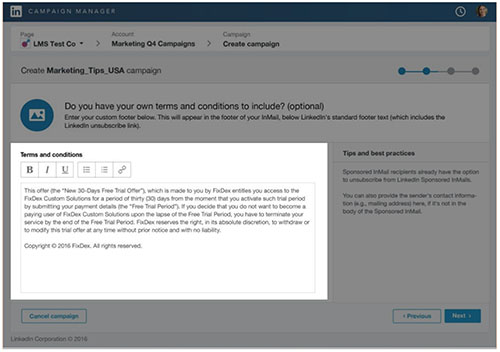 how to create your linkedin sponsored inmail a