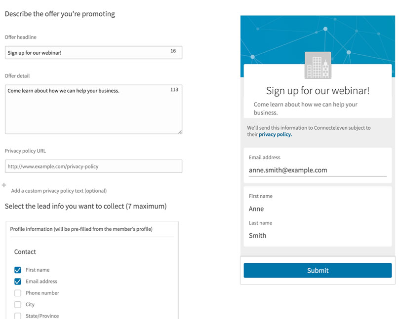 How to Use LinkedIn Lead Gen Forms | LinkedIn Marketing Blog