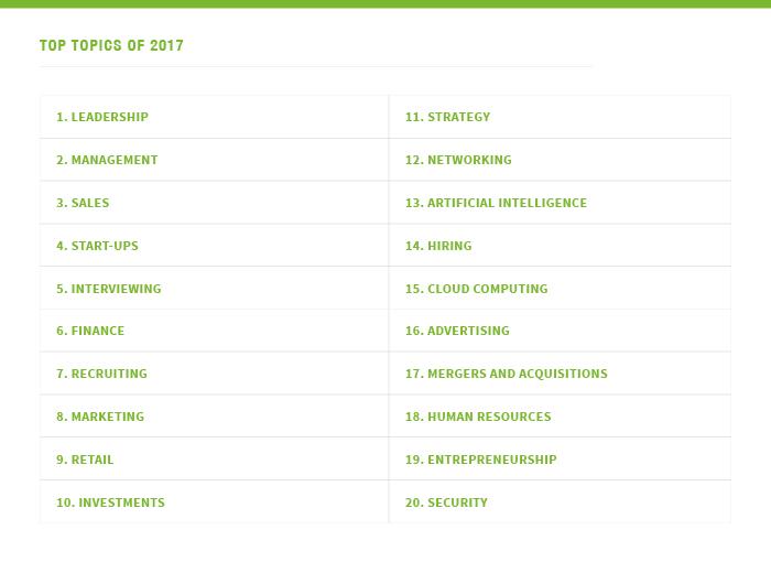 contenidos más leídos en linkedin durante 2017