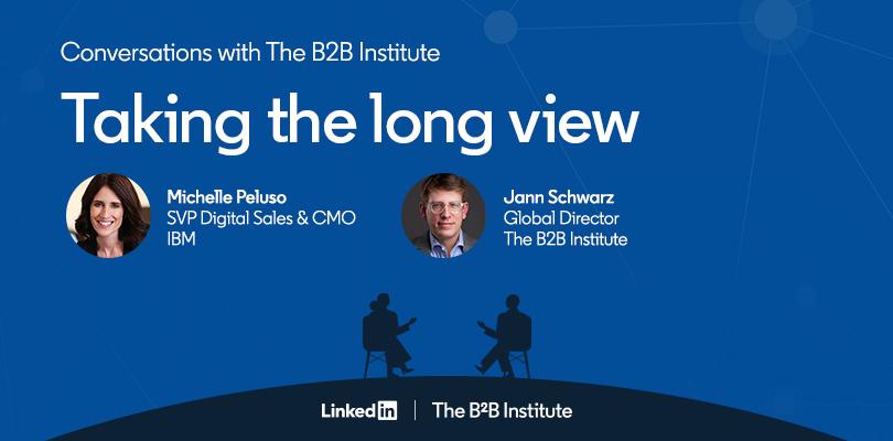 IBM CMO Michelle Peluso and B2B Institute's Jann Martin Schwarz