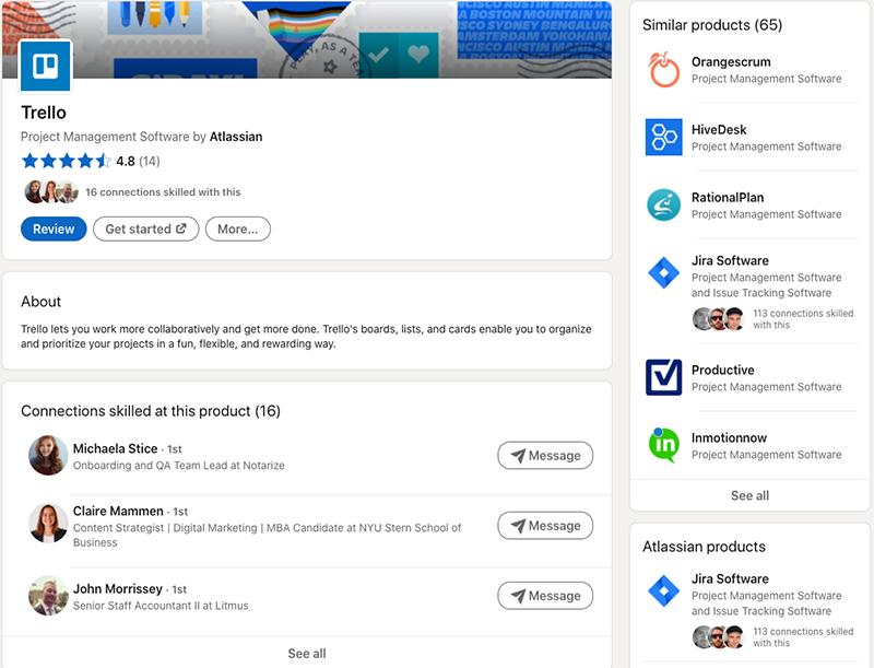 הצגת המוצר Trello של חברת Atlassian