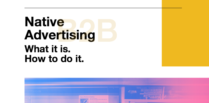 Introducing Native Advertising What It Is How To Do It